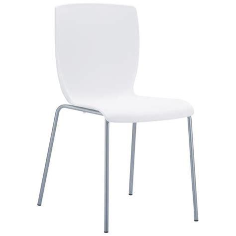 chaise de cuisine 39 plez 39 blanche en matière p achat