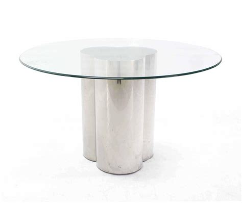48 glass table top pace collection 48 quot round glass top center dining table on