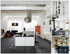 inspiration cuisine le charme de la cuisine scandinave With idee deco cuisine avec lit inspiration scandinave
