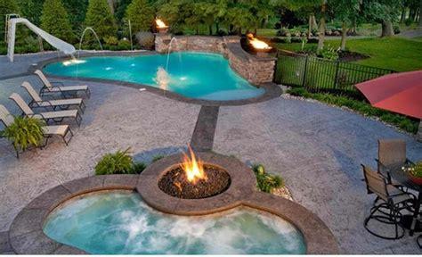 Garten Pool Und Feuerstelle Zusammenstellen  15 Ideen