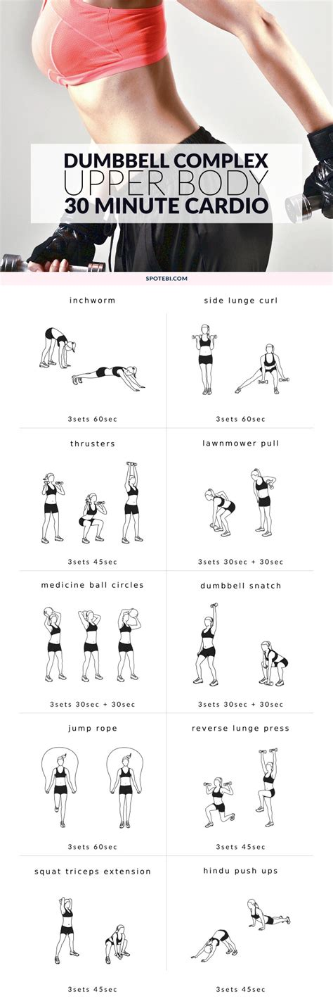 minute cardio upper body dumbbell workout