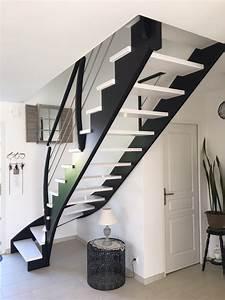 Escalier Bois Blanc : photos escalier menuiserie plaine fabricant d 39 escaliers en bois sur mesure ~ Melissatoandfro.com Idées de Décoration