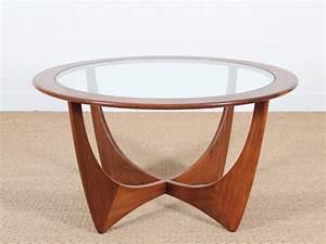 Table Basse En Verre Ronde : table basse scandinave ronde en teck en et verre galerie m bler ~ Teatrodelosmanantiales.com Idées de Décoration