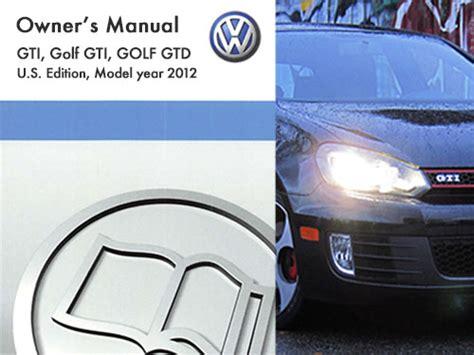 volkswagen gti owners manual