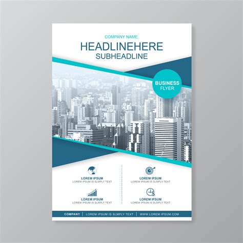 business cover  template   report  brochure