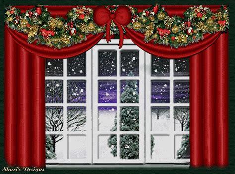 jendela natal gif gambar animasi animasi bergerak  gratis
