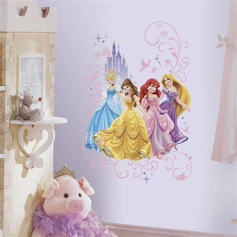 stickers chambre fille princesse disney princesses with castle wall decals princess
