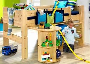 Lit Enfant Mi Haut : lit superpos en pin massif lit haut enfant chambre ~ Premium-room.com Idées de Décoration