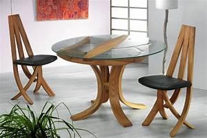 Table Verre Bois : table epona verre et bois chaise epona ~ Teatrodelosmanantiales.com Idées de Décoration