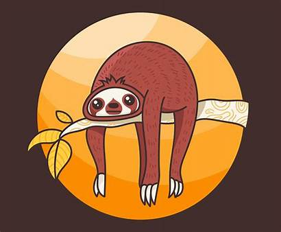 Sloth Illustration Vector Clipart Vecteezy Cartoon Funny