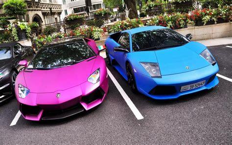 Free Cars Wallpapers Downloads Pink by Hd Pink Blue Lamborghinis Wallpaper Free 126457