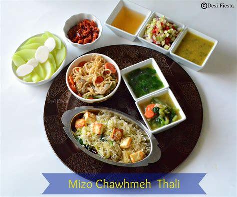 cuisine free mizo chawhmeh thali mizoram cuisine