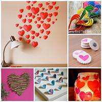 valentine decoration ideas 3D Paper Heart - Valentine's Day Craft & Decoration - Red Ted Art's Blog