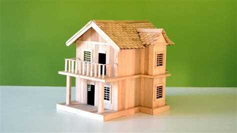 amazing popsicle stick house easy home  craft youtube