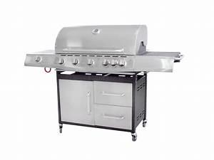 Plancha Gaz En Inox : barbecue gaz 7 bruleurs pro en inox plancha ~ Premium-room.com Idées de Décoration