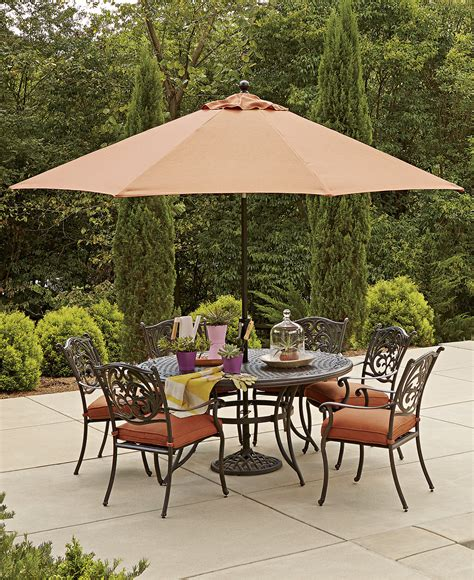 metal patio umbrella table modern patio outdoor