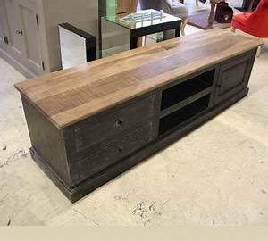 Meuble Tv Manguier : meuble tv 180 cm bois meuble tv design en bois trendsetter ~ Teatrodelosmanantiales.com Idées de Décoration