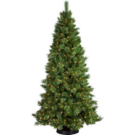 cashmere pre lit christmas tree pre lit 7 5 pine artificial tree 400 clear lights walmart