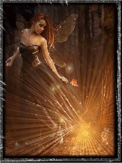 Belles Gifs Paysage Automne Poeme Femme Fairy