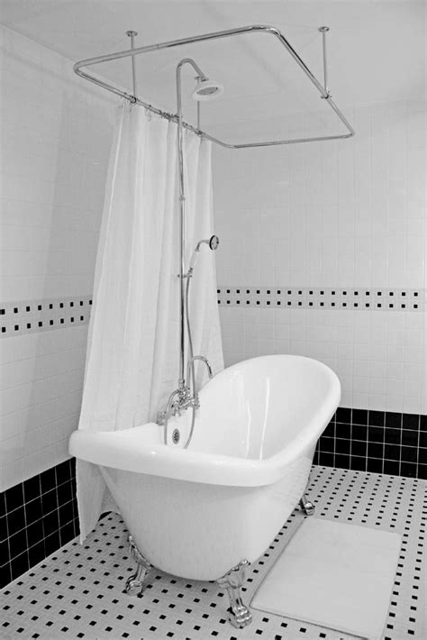 Shower For Clawfoot Tub by Hlds59shpk 59 Quot Hotel Collection Slipper Clawfoot