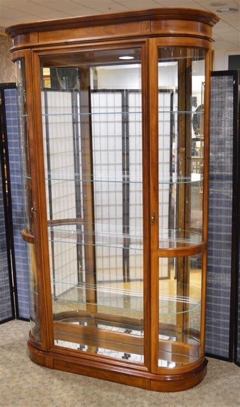 curio cabinets with glass doors pulaski 2 door curio cabinet w bow glass doors pulaski