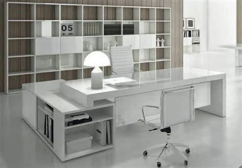 bureau direction blanc bureau de direction block contemporain aménagement de