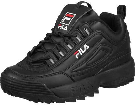 Sepatu Fila Black fila disruptor low w shoes black