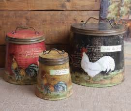 rustic kitchen canister sets rooster decor jpg