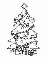 Coloring Presents Tree Under sketch template