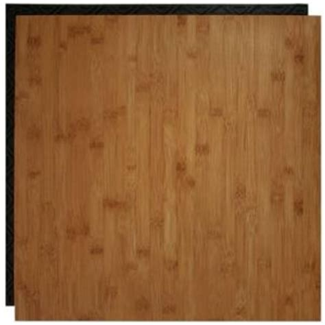 Vinyl Plank Flooring Underlayment Home Depot by Place N Go Bamboo 18 5 In X 18 5 In Interlocking