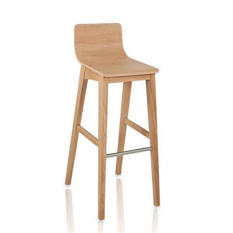 tabouret de bar ou snack moderne en bois enoa 4 pieds tables chaises et tabourets