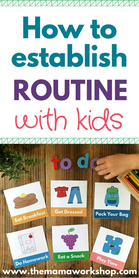 evening routine visual schedule cards schedule cards
