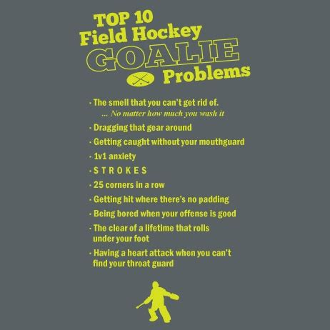 Inspirational Quotes For Field Hockey Goalies