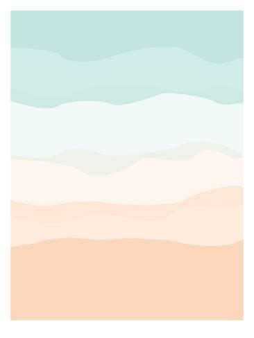 mint peach abstract giclee print jetty printables