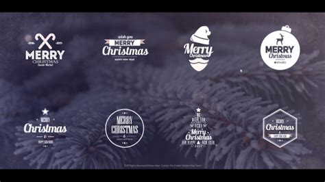 christmas logo after effects template christmas titles after effects template videohive