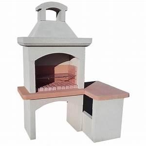 Barbecue En Dur : barbecue pierre x x cm leroy merlin ~ Melissatoandfro.com Idées de Décoration