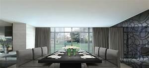 Salle a manger grise la teinte passe partout for Salle À manger contemporaineavec grande table À manger
