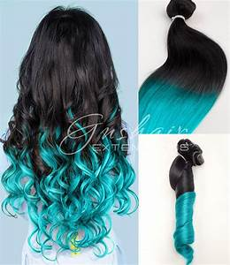 Light Turquoise Ombre human hair by OmbreHairCustomed on Etsy