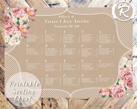 Vintage Chic Wedding Seating Plans