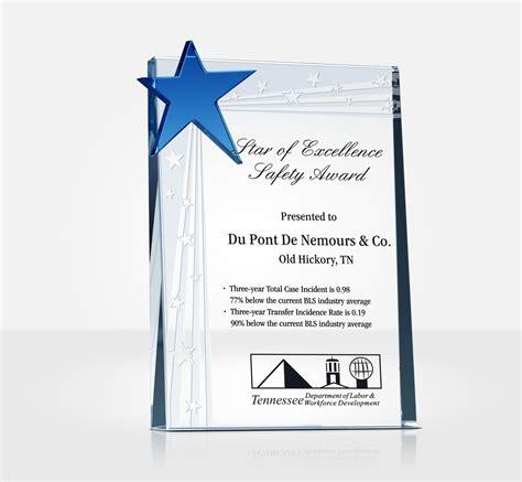 safety star award plaque sample wording ideas diy awards