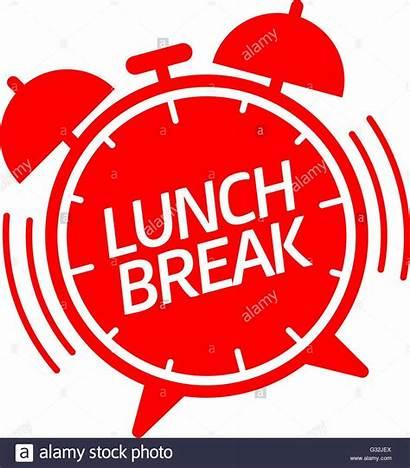 Lunch Break Clock Alarm Vector Hurry Ringing