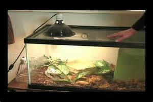 how to attach a cl light to a reptile tank with a