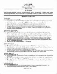 resume for hr manager hr management resume occupational exles sles free edit with word