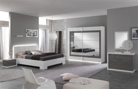 chambre d h es naturiste lit adulte design laqué blanc gris hanove lit adulte