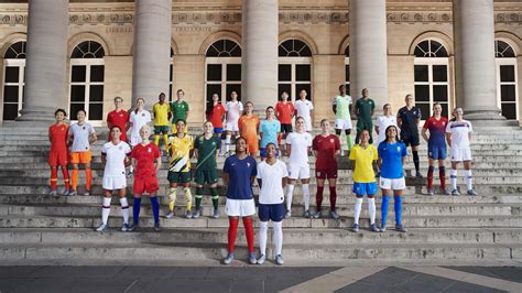 nike unveils  kits    womens world cup