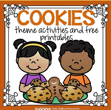 cookies theme activities and printables for preschool and 403 | cookies page topper small orig