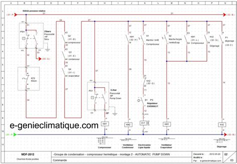 schema electrique chambre installation climatisation gainable circuit frigorifique
