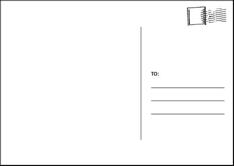 Postcard Templates Postcard Clipart Template Pencil And In Color Postcard