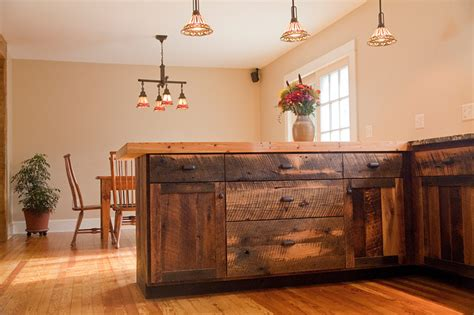 rustic oak kitchen cabinets reclaimed oak barnwood cabinets 5015