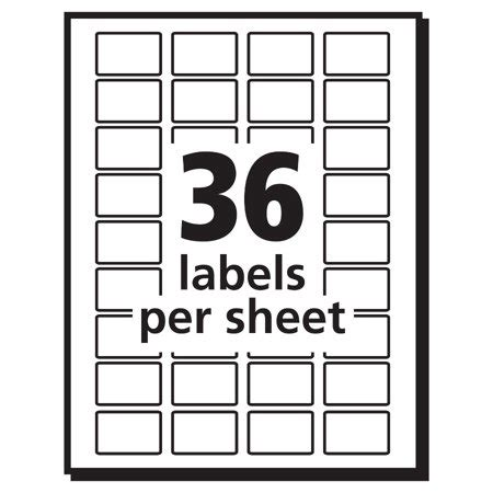 avery 5418 template quot avery r white removable print or write labels 5418 1 2 quot quot x 3 4 quot quot pack of 1000 quot best all